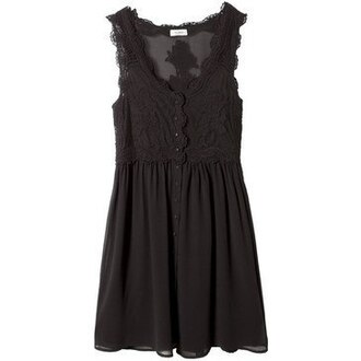 dress black dress lace dress black lace dress sheer mesh dress mesh lace pull and bear black buttons short dress