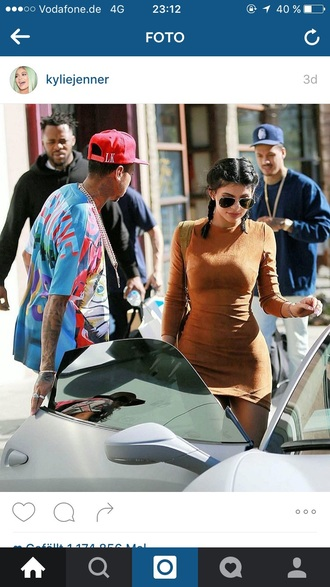 dress kylie jenner brown