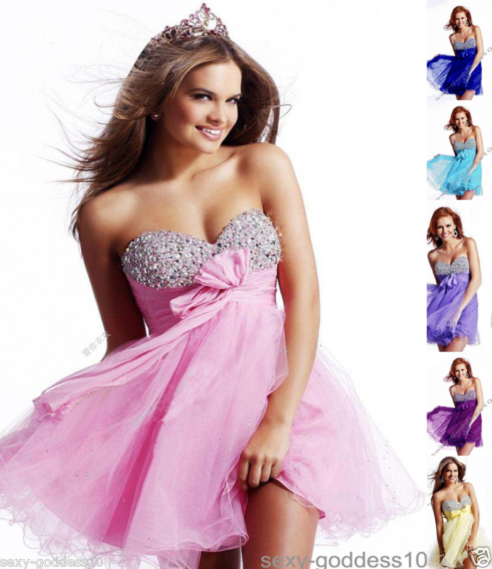 New Stock Short Mini Cocktail Evening Party Dresses Prom Gown Size 6 ...