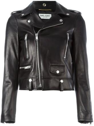 jacket biker jacket women classic black