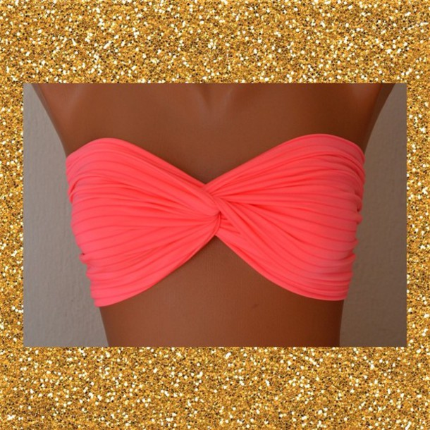 swimwear neon pink cute tbh i love this i seriously love it bikini summer or can we find it? :)