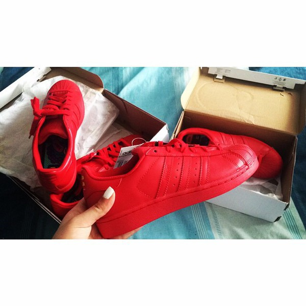 adidas samoa all red