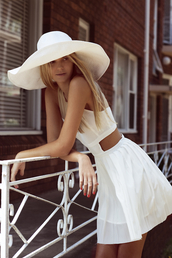 dress,white dress,mini dress,white mini dress,sundress,white,summer,summer dress,summer outfits,cut-out dress,skater dress,fit and flare dress,cute dress,short dress,cute,white cutout dress,hat,headband,trendy,style,party dress,see through,layered,short,side cutouts