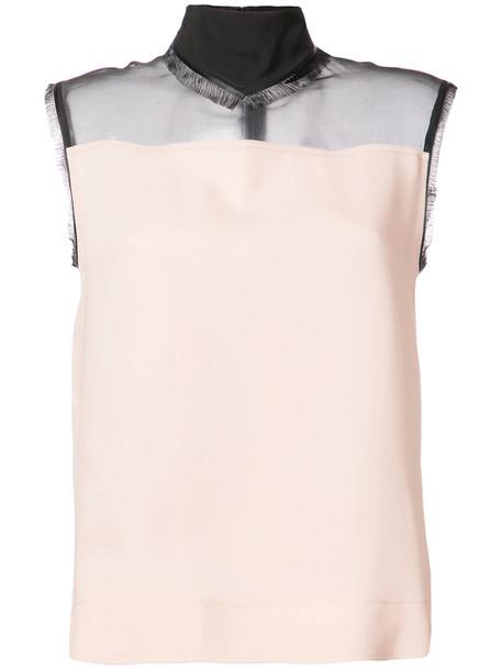 DEREK LAM blouse sleeveless women silk purple pink top