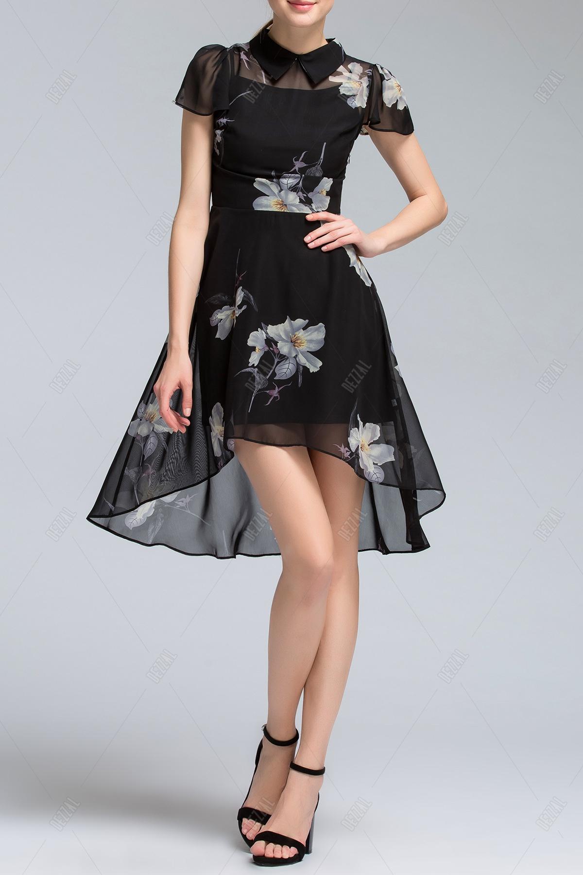 Flat Collar Irregular Dress