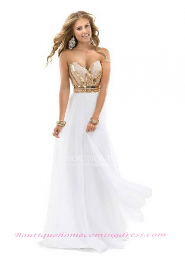 Empire sweetheart chiffon prom dress