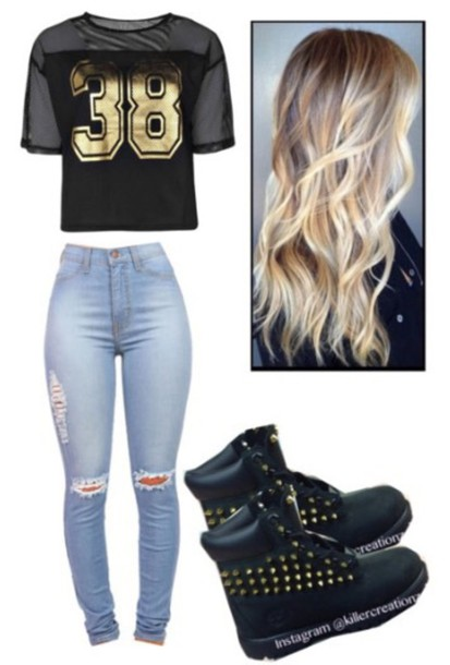 shoes timberland boots shoes t-shirt jeans blouse gloves jewels
