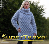 sweater,hand,knit,made,mohair,cable,turtleneck,supertanya,angora,wool,cashmere,alpaca,soft,fluffy