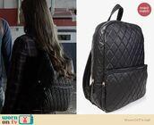 bag,backpack,ravenswood,quilted,black backpack,leather backpack,quilted bag
