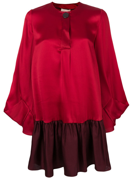 Roksanda dress shift dress women silk red