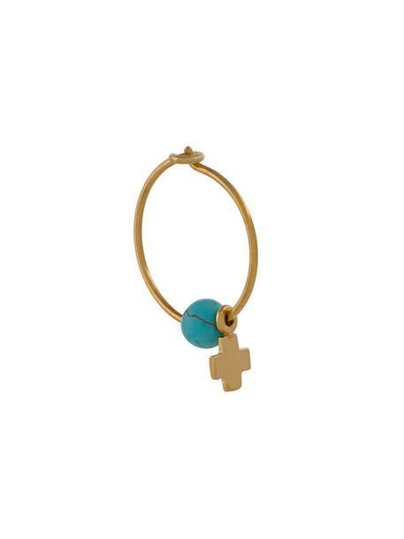 Ileana Makri cross earring cross women yellow orange jewels