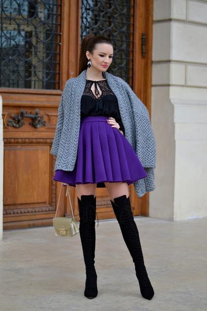 my silk fairytale blogger blouse skirt shoes cardigan bag
