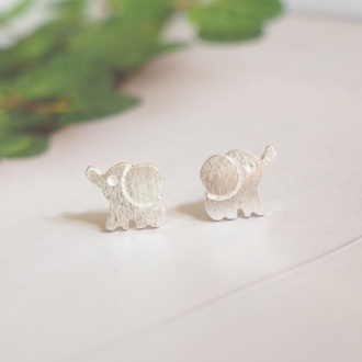 jewels summer summer handcraft elephant elephants earrings animal sterling silver silver earrings 925 silver simple chic gift ideas girlfirend gift lovely gift girlsfriend gift birthday gift