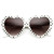 Womens Cute Polka Dot Heart Shaped Fashion Sunglasses 8982                           | zeroUV