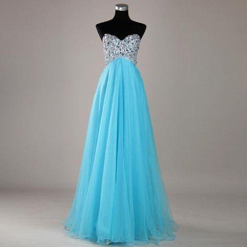 Sweetheart elegant beading evening dress
