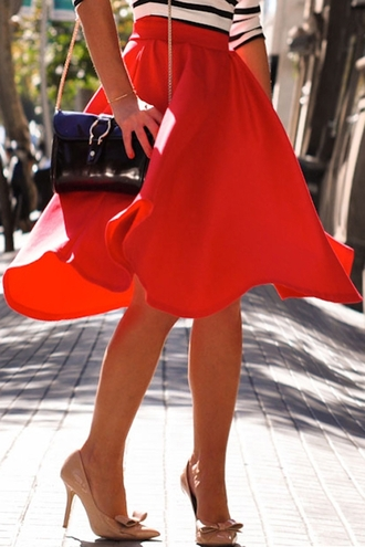 red skirt summer fashion style girly trendy zaful