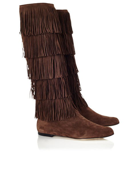 boots suede brown