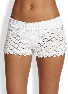 Ondademar floral crocheted shorts