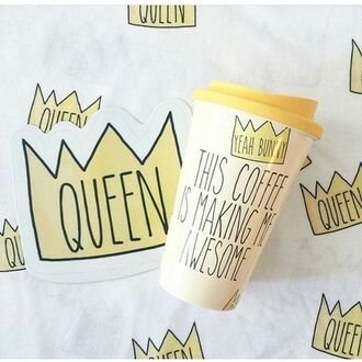 home accessory yeah bunny queen coffee tumbler