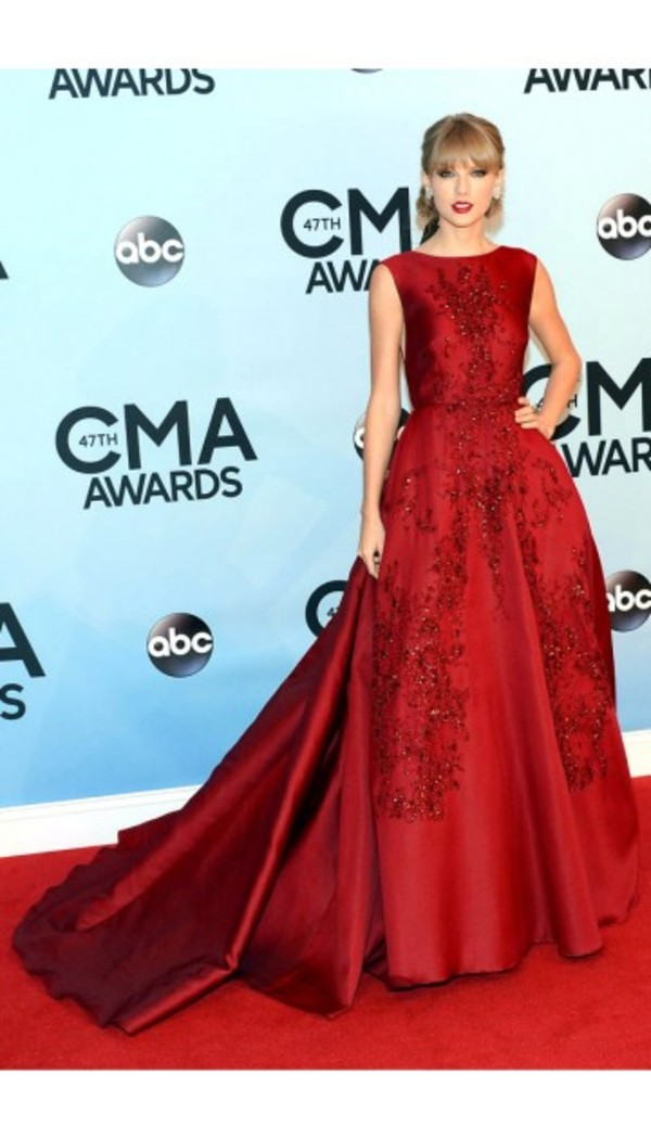 dress prom dress red carpet