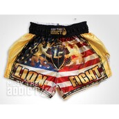 shorts,gold lion fight patriot muay thai shorts – muay thai addict,gold lion fight shorts,muay thai shorts,black lion fight patriot shorts - muay thai addict