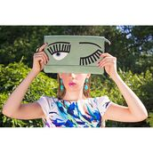 clutch,eyes,pastel green