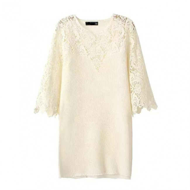 Vintage lace knitted tunic