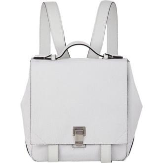 bag leather backpack white bag backpack minimalist