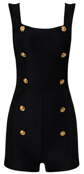 romper,dream it wear it,black romper,bodycon,party outfits,sexy,sexy outfit,gold,black,embellished,summer outfits,spring outfits,fall outfits,winter outfits,classy,elegant,cute,girly,date outfit,clubwear