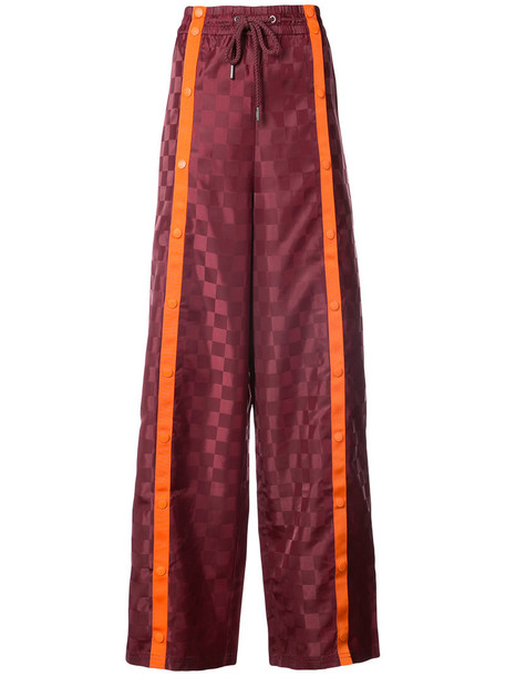 Fenty X Puma - front tearaway track pants - women - polyester - M, Red, polyester