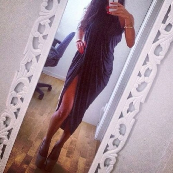 dress black draped dress long dress long black dress black dress