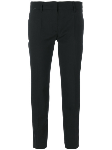 Prada cropped women black wool pants