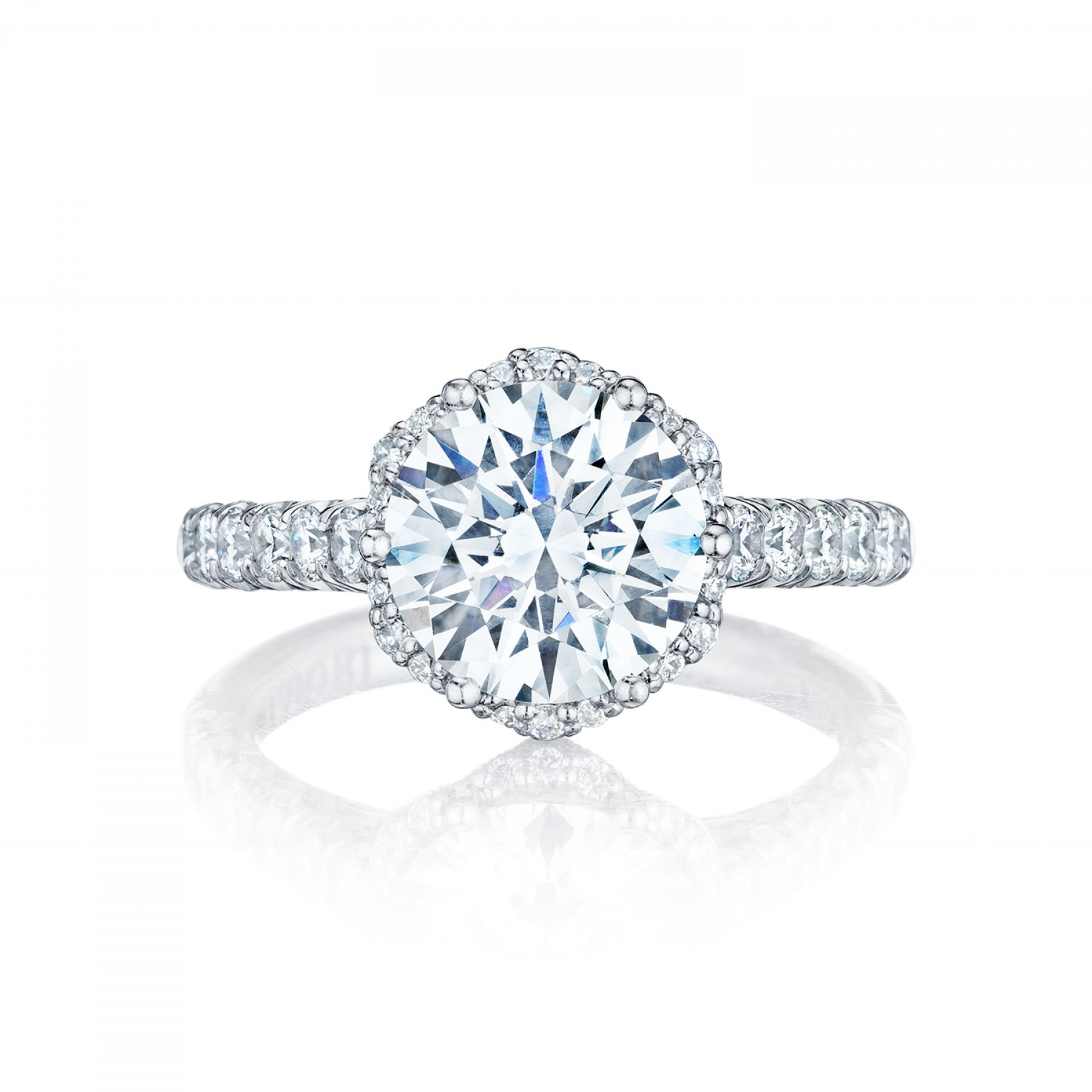 Style# HT254725RD9 - Petite Crescent - Engagement Rings - Tacori.com