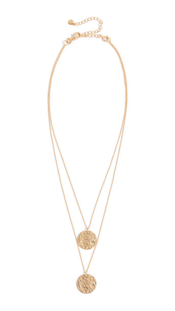 Gorjana Faye Layer Set Necklace in gold / yellow