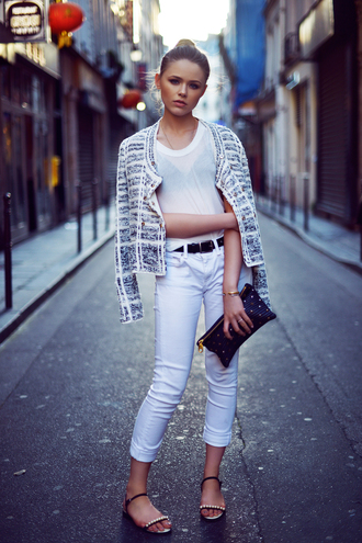 kayture top jeans jacket shoes bag belt jewels