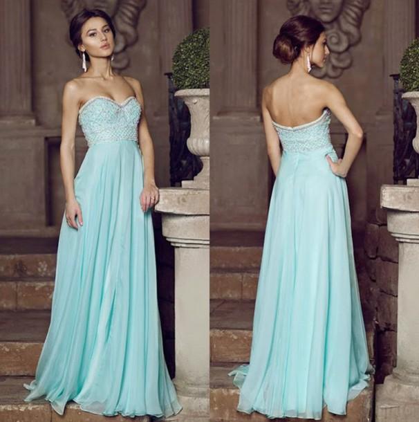 blue dress, evening dress, prom dress, party dress, formal ...