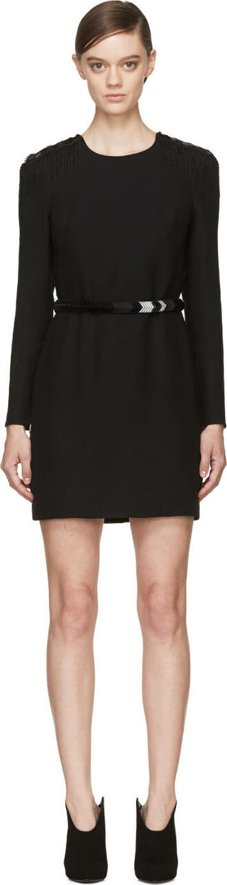 dress cocktail dress beaded black