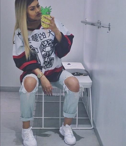 Top Sneakers Jeans Fashion Style Streetwear Jersey