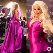 dress,jovani,maria durbani,durbani,pink dress,jovani dress,jovani prom beautiful,celebrity style,bow,pink,celebrity,celebrities dress
