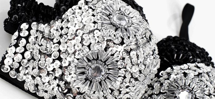 En BH fylld med paljetter, kristaller & glamour – CrystalBra.se