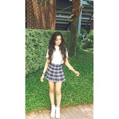 skirt,camila cabello,plaid skirt,tennis skirt,grey