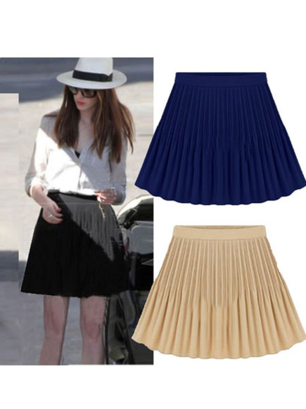 chiffon skirt high waist banggood