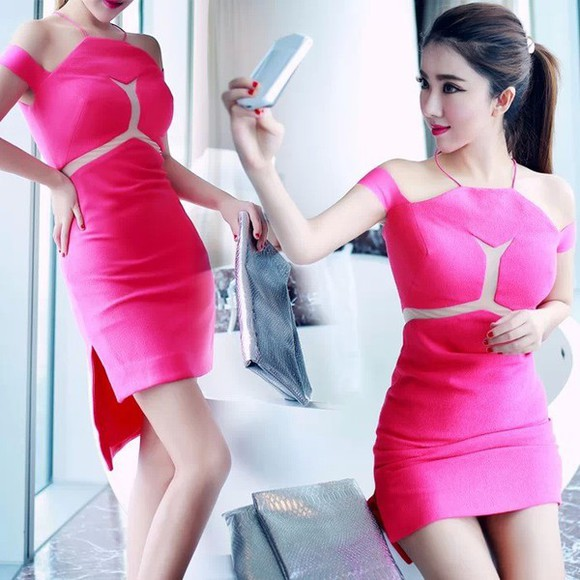 bandage dress three floor halter drss halter bodycon dress bandage sexy dress red dress three floor dress