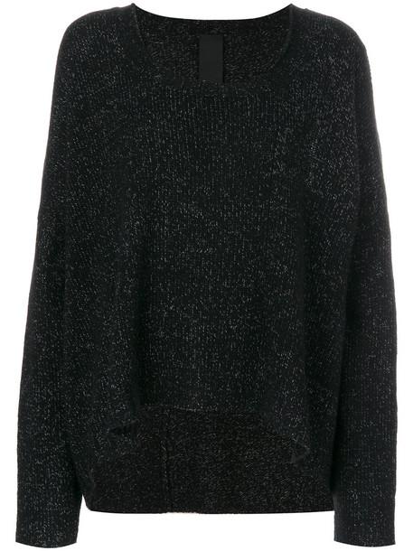 Rundholz Black Label top knitted top women draped wool black
