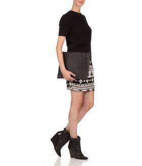 Grande pochette cuir Noir GAT RIMON FEMME - Boutique en ligne GAT RIMON - Collection Automne Hiver 2013/2014 - Place des Tendances.