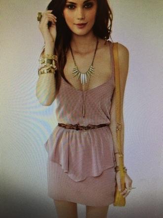 dress dusty pink short party dresss