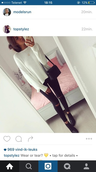 sweater white long cozy long sleeves cosy sweaters