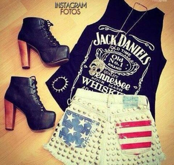 tank top shorts shoes top