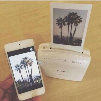 home accessory white polaroid printer polaroid camera polaroid pogo dusty junk iphone photography