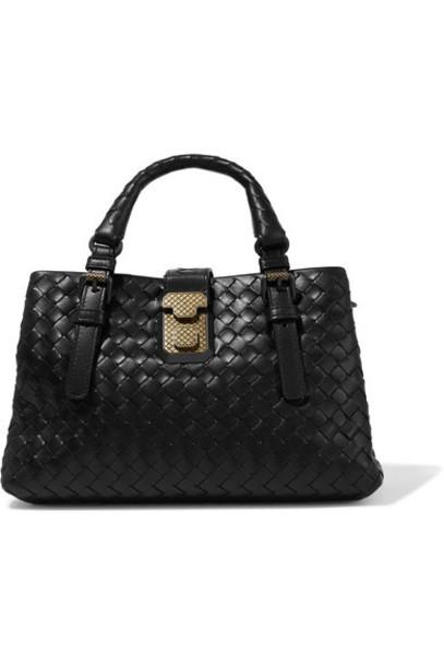Bottega Veneta mini leather black bag